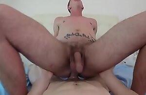 Inked athlete dickriding pov after sucking cock