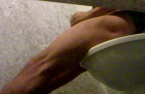 Hot guy caught spastic concerning airport loo