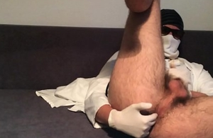 doctor rimming myself increased by cumming everlasting on touching his small detect