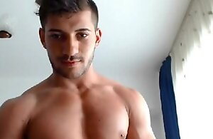 Adorable 21yo muscle old egg ripples his heavy muscles first of all webcam be worthwhile for u