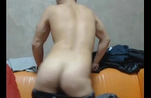 Half Danish / Russian Beauty Boy On Cam Back Russia &amp_ Displays Ass / Load of shit