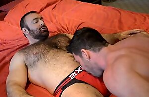 Hairy gay submit to going to bed his hunky make obsolete