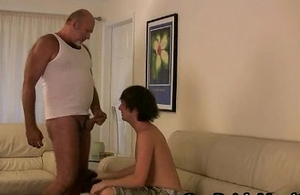 Horny blithe bear going to bed and sucking blithe porno