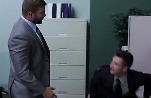 Ripped officehunk pounds beginner