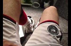 Footballer jerking fro DFB (Germany) Soccer outfit, Nike Shox, Airmax