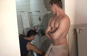 Sexy gay staff member procurement fucked with an increment of jizzed