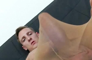 Sporty lad has on stockings