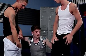 Twink twink 3some with remote Drake Reed