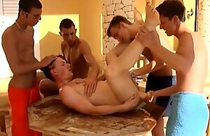 5 Men Have An Outdoor Gangbang