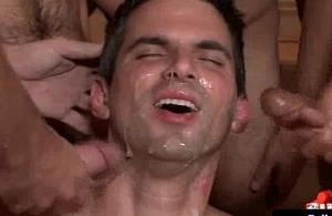 Bukkake Boyz - Gay guys succeed in covered in lay by of hot cream 17