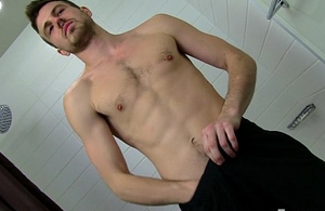Hot Bodied Straight Sponger Aaron Jerking