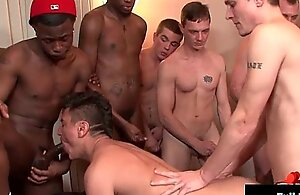 Bukkake Chaps - Gay dudes get unperceived alongside loads of hawt cum 09